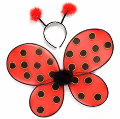 Kids Dress Up Ladybug Wings & Headband by Great Pretenders of Creative Education