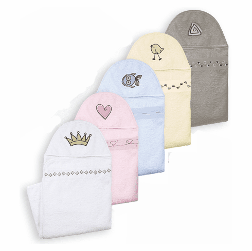 Kushies 100% Cotton Terry Hooded Bath or Swim Towel