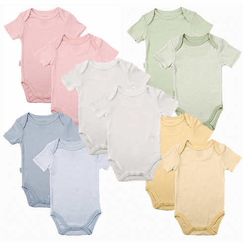 Kushies 2 Pack Short Sleeve Bodysuits
