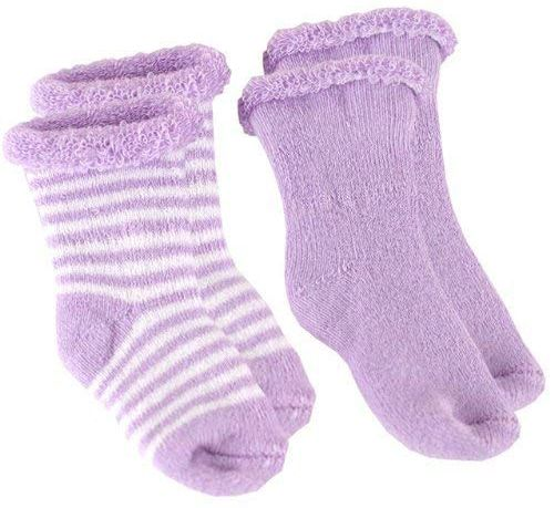 Kushies 6-Pack Terry Newborn Striped /& Solid Cotton Socks 533562