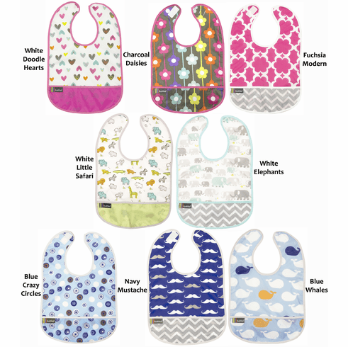 Kushies Cleanbib Infant or Toddler Waterproof Clean Bib with Pocket