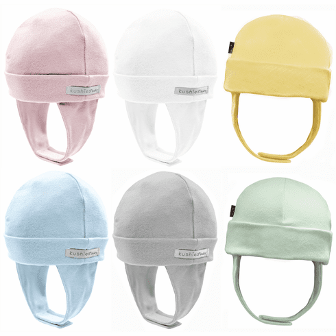 Kushies Cotton Interlock Baby Cap Hat with Ear Flap