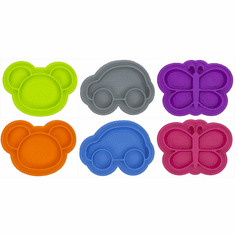 Kushies Siliplate Dishwasher Freezer Safe Food Grade Silicone Kids Plate