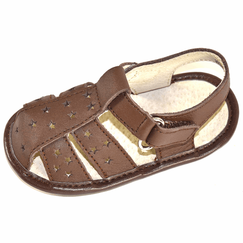 L'Amour Baby First Walker Shoes Leather Closed Toe Fisherman Sandals