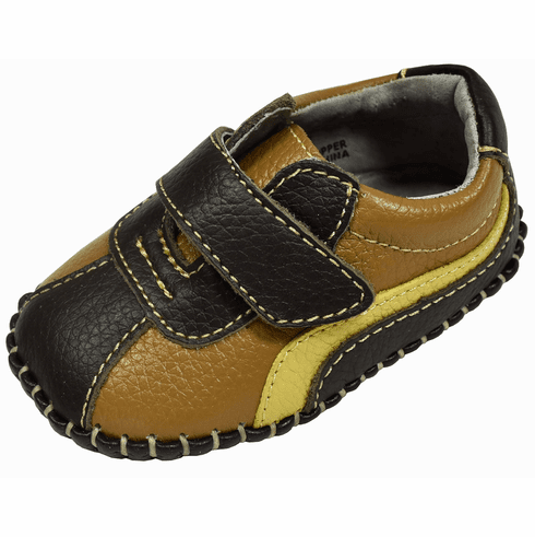L'Amour Boys Super Soft Leather Sneakers First Walker Baby Shoes