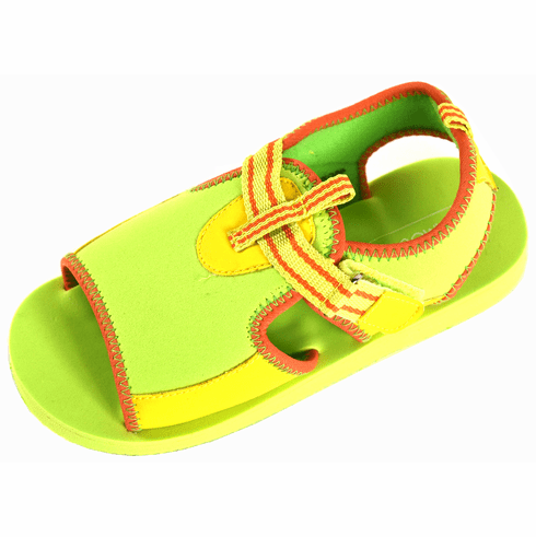 L'Amour Child Size 12 Lightweight EVA Foam Beach Shoes w/Adjustable Velcro Strap