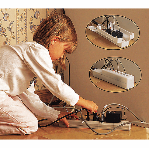 Mommy's Helper Power Supply Strip Outlet Cover for Child Safety