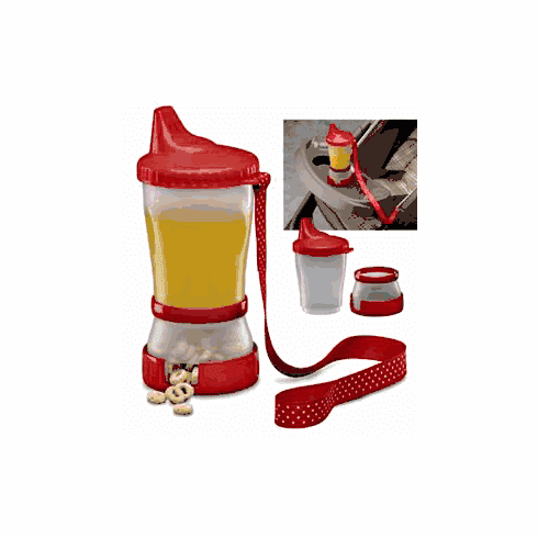Mommy's Helper Sip 'N Snak Non-Spill Sippy Cup with Snack Compartment Container