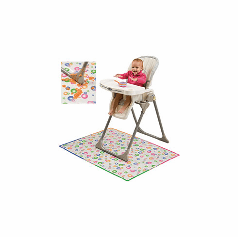 Mommy's Helper Splat Mat Plastic Cover Protects Floor From Mealtime Spills in Kitchen