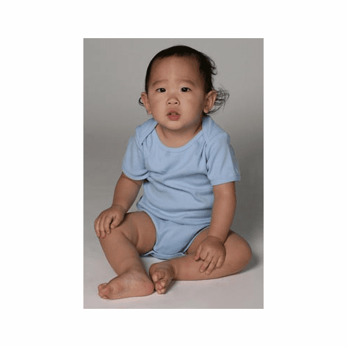 Organic Cotton Baby Rib Short Sleeve One Piece
