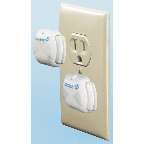 Pack of 8 Safety 1st Deluxe Press-Fit Outlet Plug Protectors