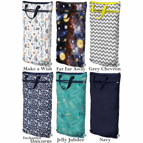 Planet Wise Hanging Reusable Wet/Dry Cloth Diaper Bag