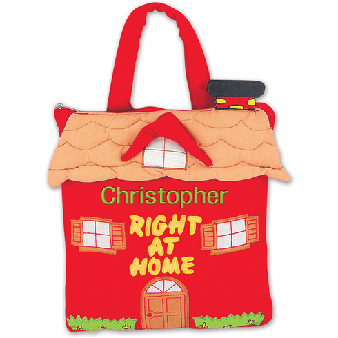 Pockets of Learning Embroidered Personalized Right at Home Book