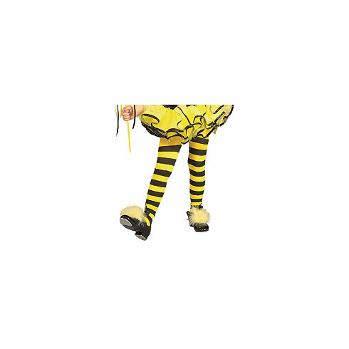 ed3530d746a36 Rubie's Yellow & Black Striped Bumble Bee Girls Tights for Halloween Costume