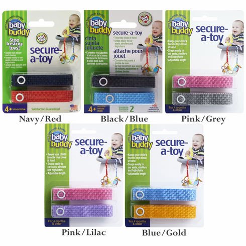 Secure-a-Toy Toy Straps for Car Seat, Stroller or High Chair