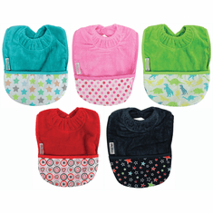 Silly Billyz Snuggly Premium Cotton Towel Toddler Bib with Pocket