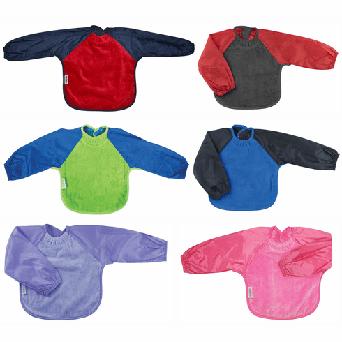 Silly Billyz Waterproof Long Sleeve Toweling Bib