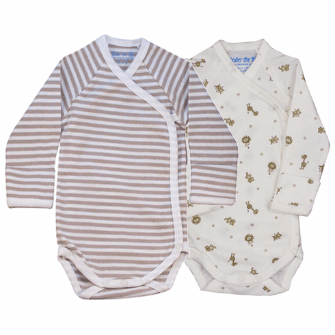 Under the Nile 100% Organic Egyptian Cotton Long Sleeve Baby Body Suit