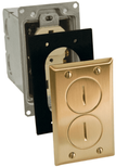 Floor Receptacle or Outlet Solid Brass