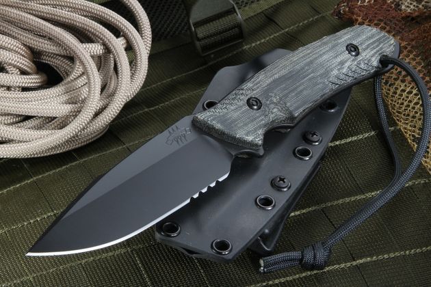 Attleboro Knife Tactical Fixed Blade - Black Sheath