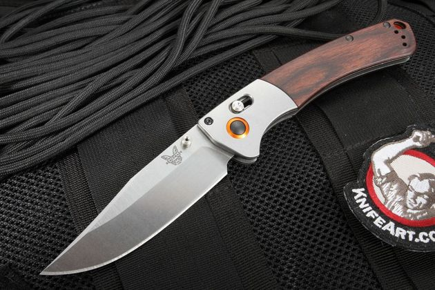 Benchmade 15080-2 Crooked River Stabilized Wood Folding Knife - Hunt Series