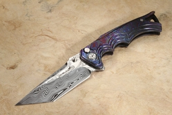 Brian Tighe - Tighe Fighter - Damasteel Blade, Timascus Handle