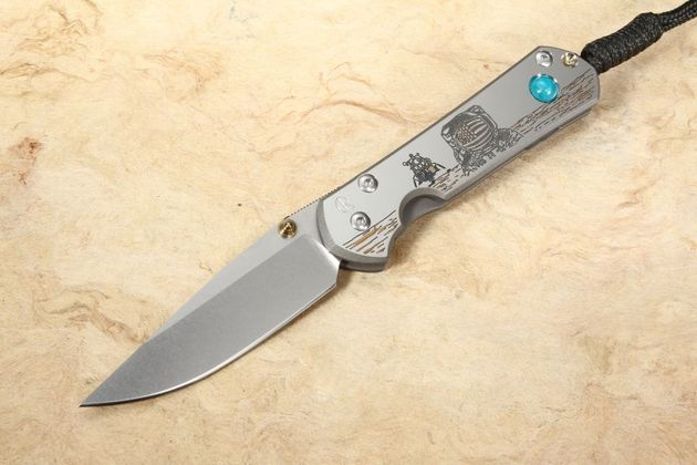 Chris Reeve Knives Small Sebenza 21 Lunar Landing CGG Folding Knife