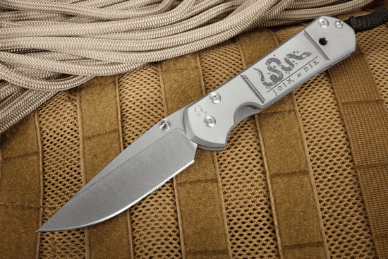 Chris Reeve Large Sebenza 21 Join or Die CGG Folding Knife