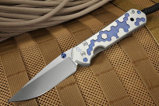 Chris Reeve Large Sebenza 21 CGG Circuits Folding Knife