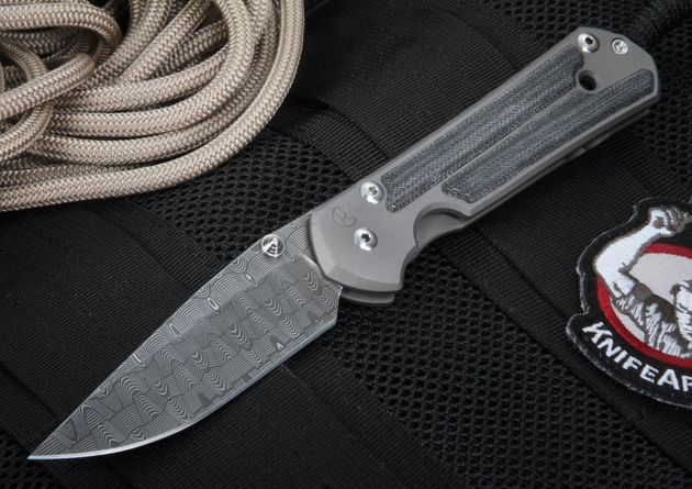 Chris Reeve Large Sebenza 21 with Micarta and Basket Weave Damascus