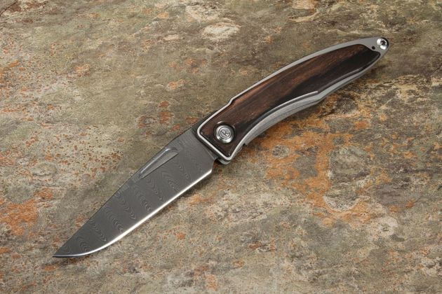Chris Reeve Mnandi Macassar Ebony and Ladder Damascus #4