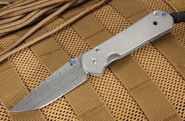 Chris Reeve Small Sebenza 21 Basket Weave Damascus Folding Knife