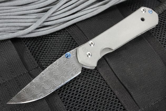 Chris Reeve Small Sebenza 21 Raindrop Damascus Folding Knife