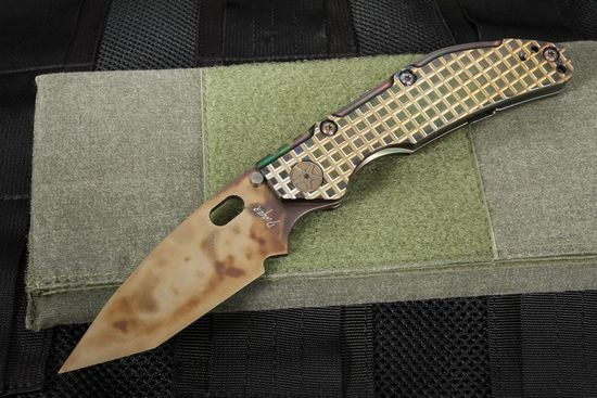 Duane Dwyer Custom Tanto - CD#1 and Frag Milled Anodized Titanium