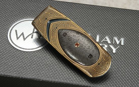 William Henry M1 Finale Gold & Damascus Money Clip