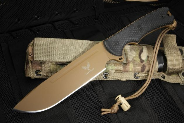 "Freeman 451 6.5"" Chopper FDE and Black Fixed Blade"