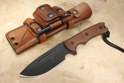 "Freeman Outdoor Gear Model 451 5.0"" Field Knife - Burlap Micarta"