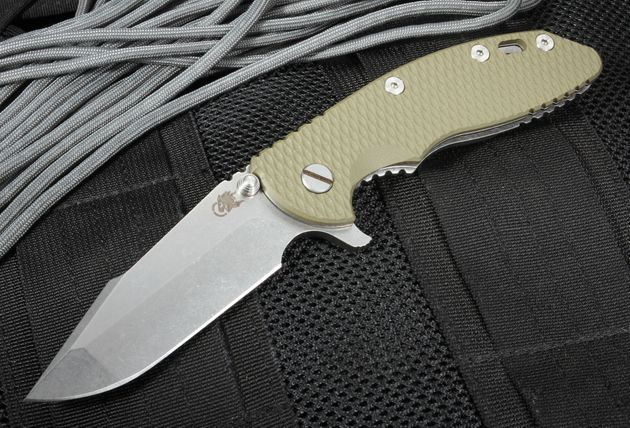 "Rick Hinderer XM-18 3.5"" Harpoon Spanto Flipper - OD Green"