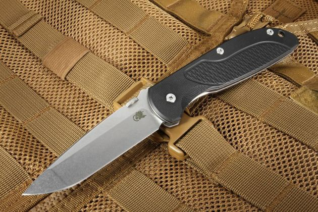 Hinderer Firetac Spanto- Black G10 Folding Knife