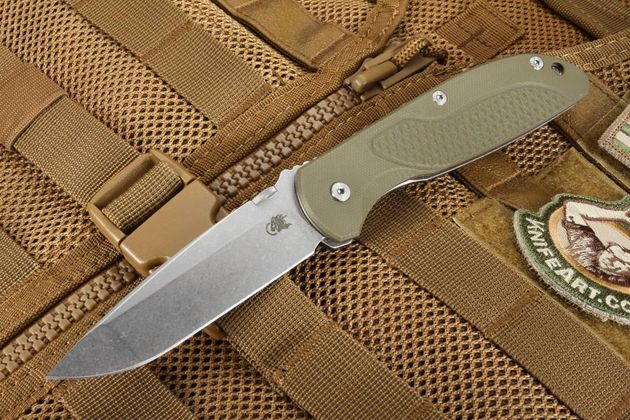 Hinderer Firetac OD Green G10 Folding Knife