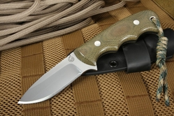 "KnifeArt Beltcarry 3"" EDC Fixed Blade Green"