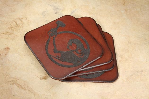 KnifeArt.com Leather Coaster Set