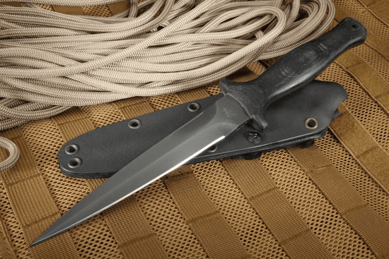 Winkler Knives Jason Knight Full Tang Dagger - Black Micarta and Caswell