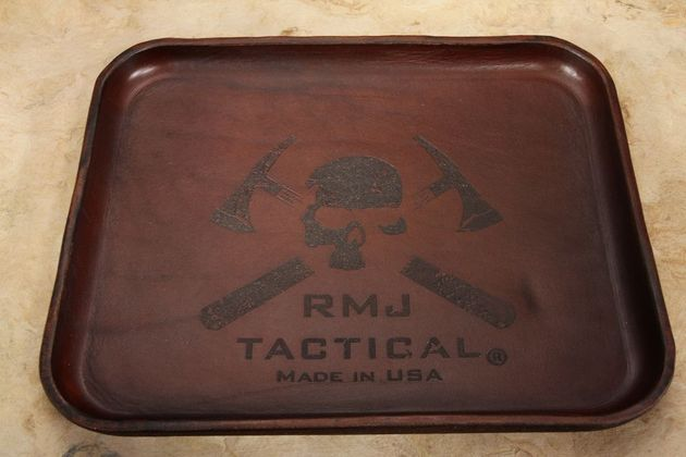 RMJ Tactical Leather Valet Tray