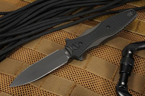"Hinderer Knives Maximus 3.5"" Folding Dagger - Black DLC Coated"
