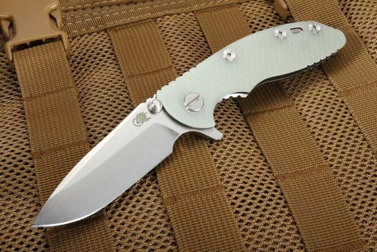 "Rick Hinderer XM-18 3"" Spearpoint Translucent - Tri Way Pivot"