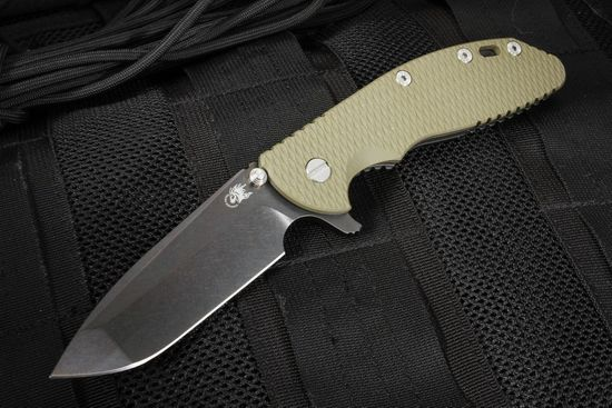 Rick Hinderer XM-24 Spanto - Tri-way Pivot - Black DLC on OD Green