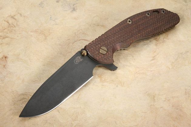 Rick Hinderer XM-24 Spearpoint - Tri-way Pivot - Vintage - Textured Walnut