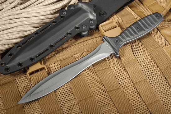 RMJ Jungle Dagger - Black G10 Tactical Fixed Blade