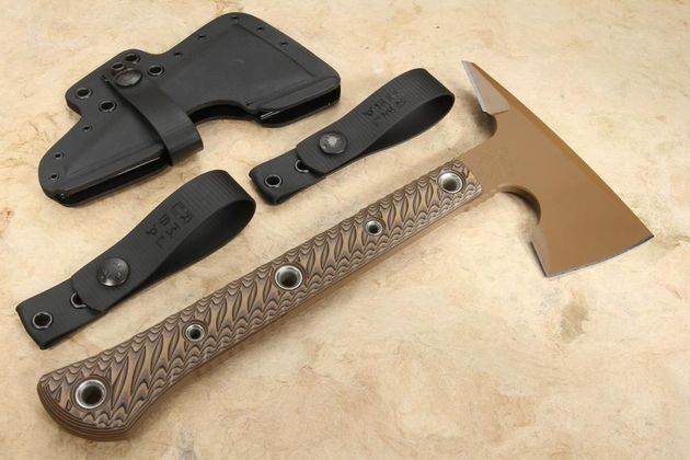 RMJ Tactical Jenny Wren Spike Tomahawk - Troy Coyote Tan - Hyena Brown